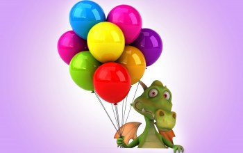 funny,dragon,balloons,colorful