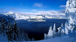 snow,mountain,lake