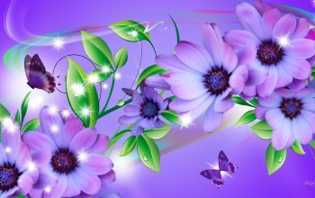 cute,flower,Purple,branch