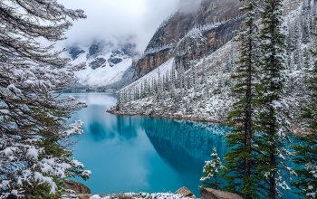 Moraine,snow,mountain