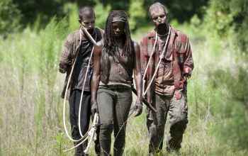 the walking dead,rope,zombies,dirt,michonne,death,mutilated