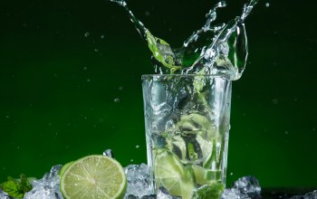 мохито,Mojito,ice,lime,mint,drink,cocktail
