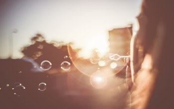 bubbles,girl,мыльные,свет,Sunset,Blowing,пузыри