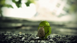 3d render,макро,android,рюкзак,земля,камни