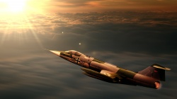 F104,interceptor,jet,Sunset,starfighter