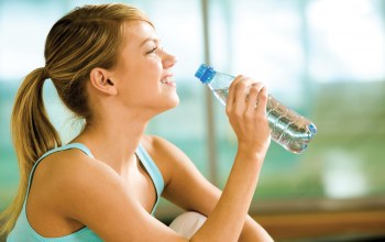 woman,smile,vital liquid,water bottle,water