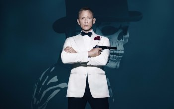 Red,pistol,action,...,universal pictures,gun,roses,costume,boy,james bond,Face,Walther,White
