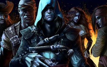 pirate,Assassin's Creed IV: Black Flag,Blackbeard,Eveline Guerra,Anne Bonny,Adewale,edward kenway