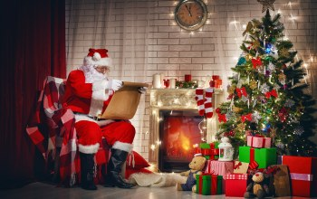 decoration,santa claus,gifts,merry christmas,рождество,christmas tree