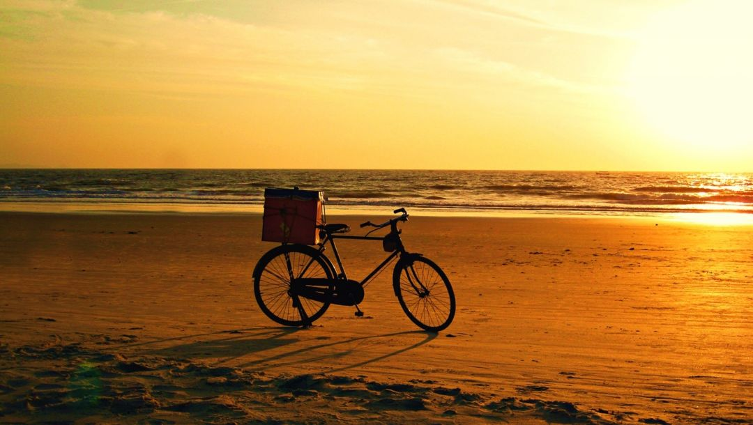 bike,Sunset,bicycle,beach