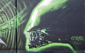 чужой,Alien,graffiti