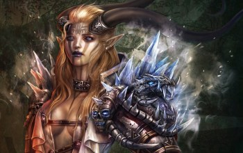 fantasy art,glass,Women,armor