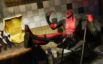 wade wilson,Deadpool: The Game,pizza