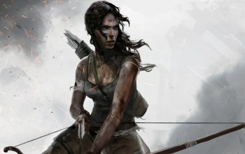 lara croft,лук