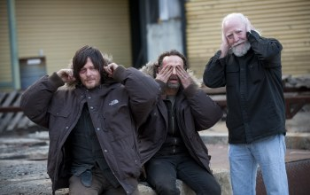 andrew lincoln,norman reedus,scott wilson,the walking dead,актеры