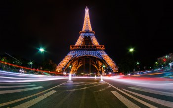 at night,Eiffel tower,paris