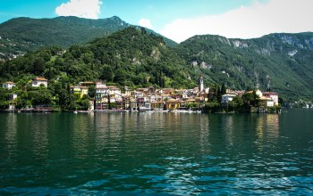lake como,Bellagio,дома,посёлок