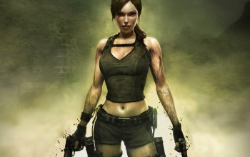brown hair,girl,tomb raider,weapons,legend,ruins,Guns,Sexy girl,dirty,Lara ...,muddy,breasts