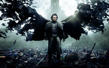 action,...,wings,Red,wallpaper,sword,vampire,luke evans,dracula,war,fantasy,drama,Cloak