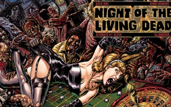 woman,comic,Night of the living dead,casino,zombies