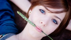 look,blue eyes,redhead,woman,beautiful
