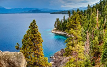 Пейзаж,побережье,Lake tahoe,сша,калифорния