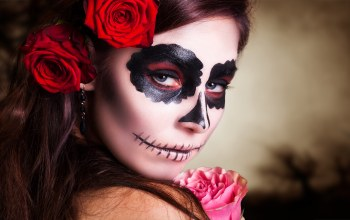 look,Day of the dead,makeup