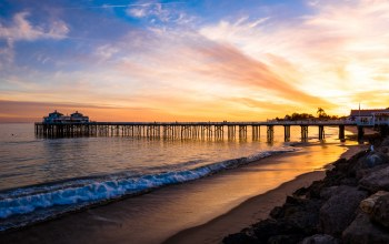 Sunset,malibu,shore,PEARCE,landscape