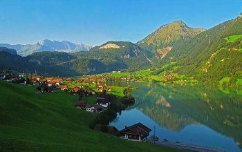 lungern,landscape,mountains,Switzerland