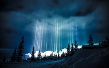 световые столбы,север,winter,Норвегия,norway,Light Pillars,сияние