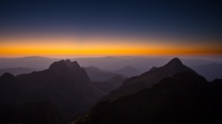 horizon,mountains,горы,Sunset,Природа