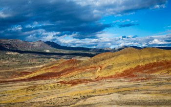 eastern oregon,тучи,The Painted Hills,пустыня