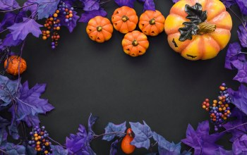 Halloween,pumpkin,berries,тыква