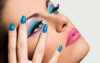 nails,eyes,blue,female,make up
