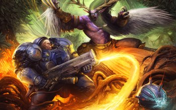 heroes of the storm,archdruid,Tychus,warcraft,wow,Схватка,starcraft