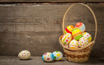 Easter,colorful,holiday,eggs,spring,wood,корзина,happy,яйца крашеные,basket