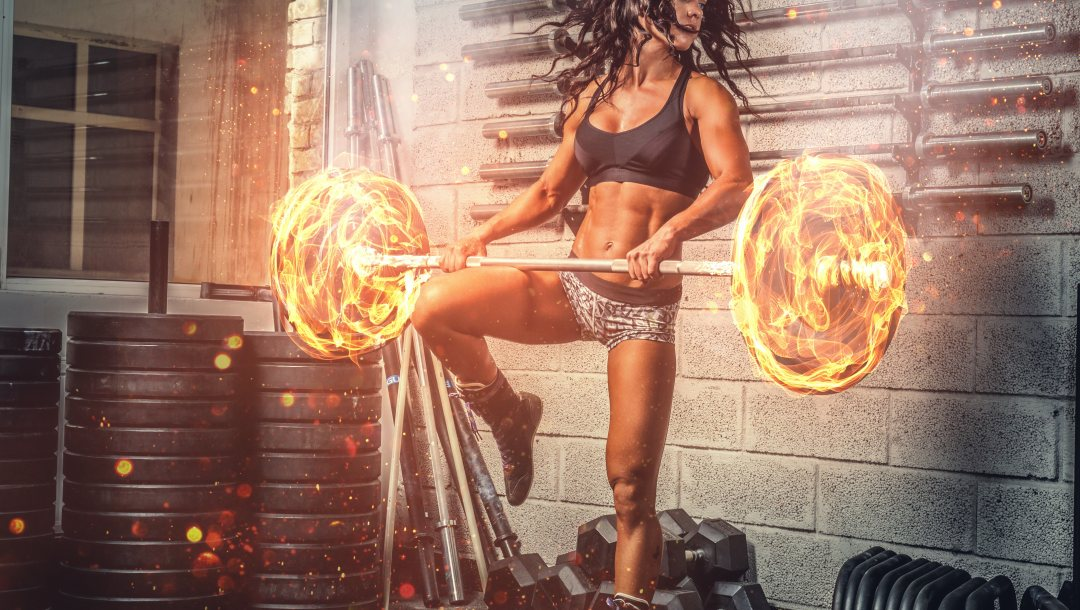 brunette,workout,power,burn