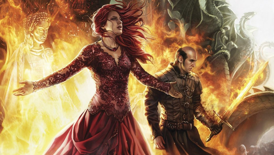 woman,fire,Priestess of R'hllor,Lord of Light,Red,sword,red hair,flame,blade,Melisandre,priestess,priestess of the Lord of Light,R'hllor,tv show,dragon,redhead,Red Woman,spark,Carice van Houten,Game of thrones,tv series,a song of ice and fire,dangerous