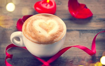 heart,coffee,Valentine`s day,roses