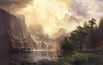 Among the Sierra Nevada Mountains-California,Альберт Бирштадт,Пейзаж,Albert Bierstadt