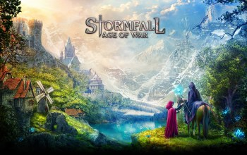 hood,game,vegetation,Stormfall: Age Of War,dragon,montain,village,Stormfall,mahou