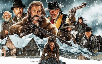 The Hateful 8,wester,Hat,pistol,film,blizz,The Hateful Eight,cinema,snow,movie,woman,gun,Colt,weapon