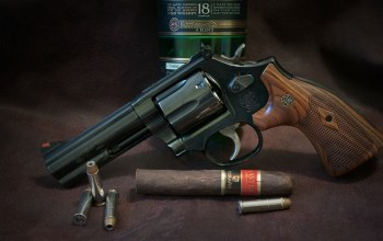 gun,cigar,whiskey,S&W,weapon,ammunition,Smith & Wesson