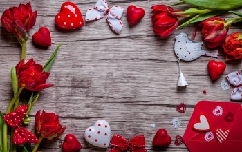 tulips,gift,Red,heart,Valentine`s day
