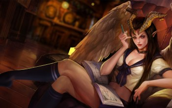 succubus,рога,heroes of newerth,вампир,hon,sweetheart,High School