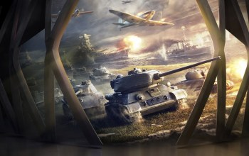 Корабли,World of warship,game,самолеты,World of warplanes,t-34-85,World of tanks