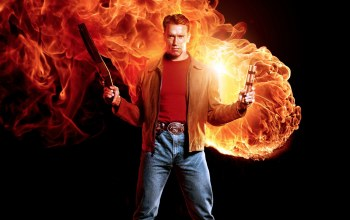 dynamite,the best of the best,1993,fire,strong,flame,spark,cigar,hero,Last Action Hero,Jack Slater,shield,Shotgun,the best,yuusha