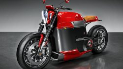 electric motorcycle,technology,electric motor,beauty on wheels,hd,fast,bold lines,tesla,motorcycle,strong,Tesla Electric Motorcycle,Tesla Model M,Speed,Red,wallpaper,concept,4k,beautiful,powerful