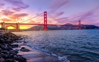 america,Suspension bridge,water,Sunset,golden gate bridge,california,liquid,Golden Gate strait,sky,united states of america,river,United states
