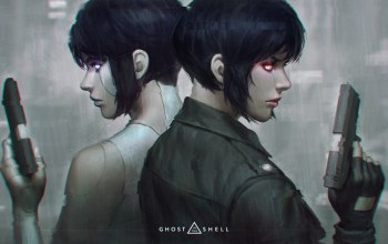 ghost in the shell,призрак в доспехах,The Major,пистолеты